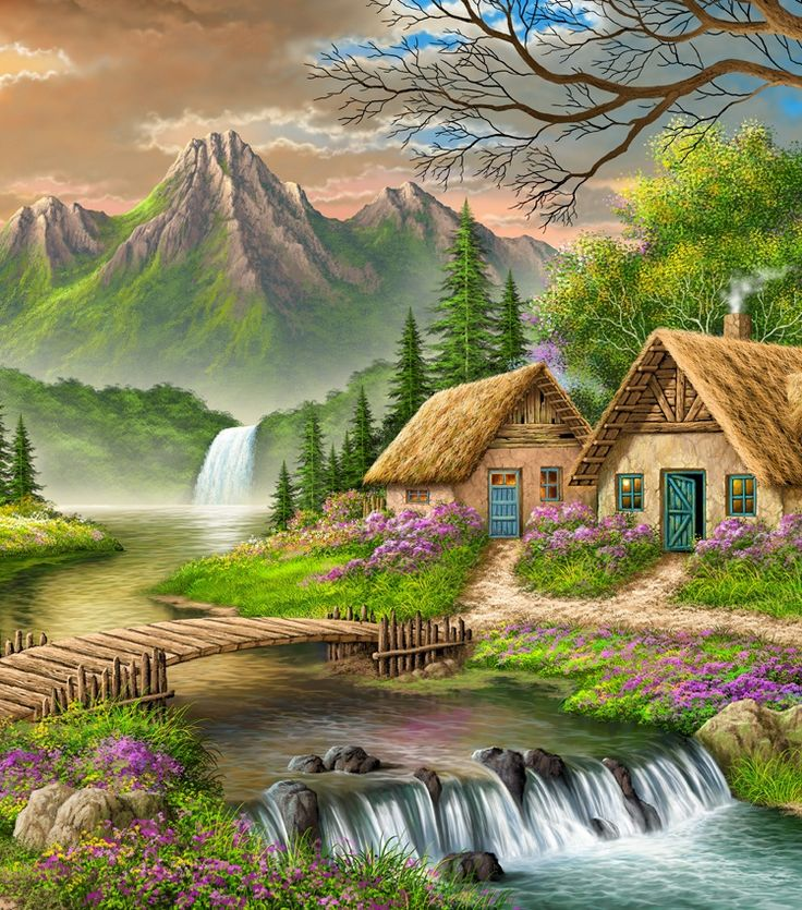 Beautiful Places In Usa Youtube: Best 25+ Scenery Paintings Ideas On Pinterest