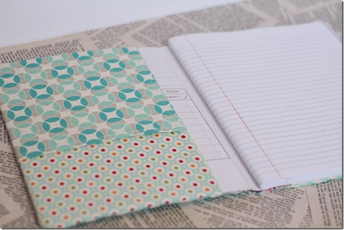 Notebook Cover Tutorial ~ This is a great pictured tutorial on how to cover a plain notebook, perfect for a teacher. This would make a great gift for a teacher, and depending upon the material you use, can be very feminine for masculine.