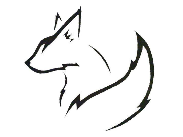 Fuchs Tattoo Vorlage seitlich tribal