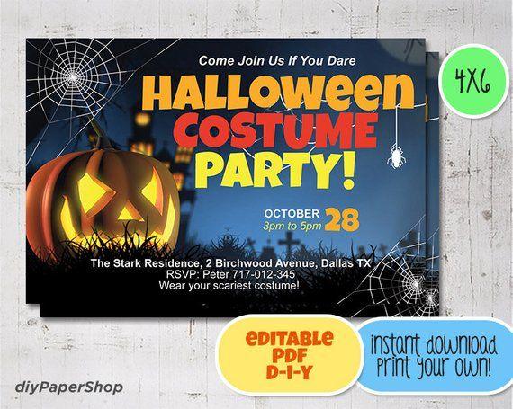 Halloween Invitations, Halloween Party Invitations, Halloween, Jack