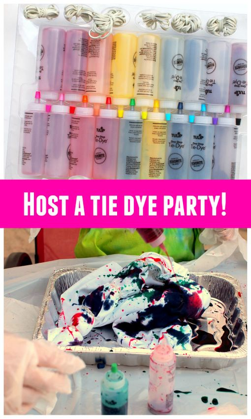 How to host a tie dye party for friends! Super easy tips and tricks! #tiedyeyoursummer @ilovetocreate