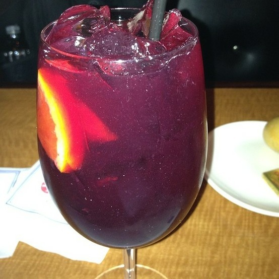 Legal Seafoods Legal Sangria. So Awesome!! LEGAL SEAFOOD SANGRIA  12 parts Spanish red wine 2 parts barcardi limom 2 parts Stoli Raz 4 parts Peach liguor or peach schnappps sprite+/- soda water to taste fresh fruit