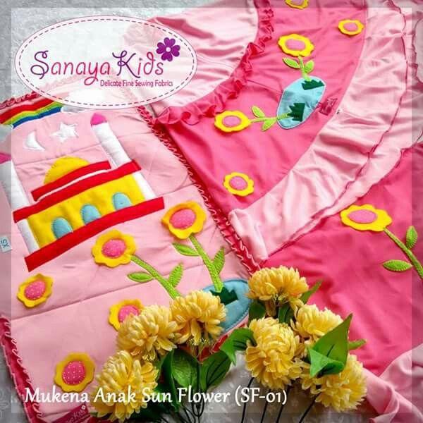 Mukena-anak-sun-flower-pink