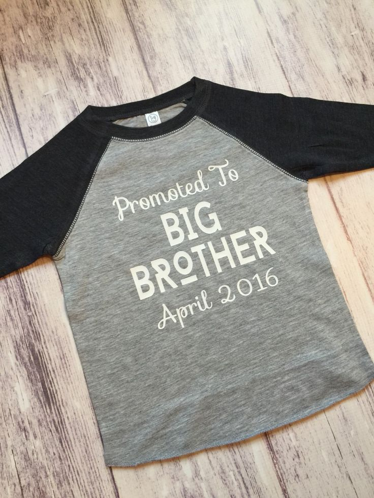 promoted to big brother shirt, pregnancy announcement shirt, soon to be big brother shirt, new baby announcement, big brother announcement by PurpleElephantCo on Etsy https://www.etsy.com/listing/243787785/promoted-to-big-brother-shirt-pregnancy