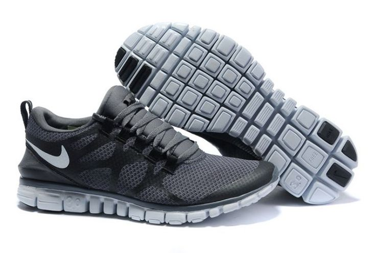 BBWPz Nike Free 3.0 V3 Men's Running Shoes Charcoal Grey/White
