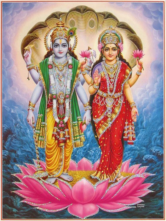 Lakshmi Narayan Poster With Glitter Vishnu Mantra Vishnu Lord Vishnu Wallpapers