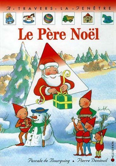 CPRPS 31997000838250 Le Père Noël. Les lutins viennent réveiller le Père Noël. Il doit charger son traîneau, car demain c'est Noël. A chaque double page, on découvre le Père Noël dans un environnement différent (peinture, couture, menuiserie...) et un cadeau empaqueté. Le bébé lutin se demande bien ce qu'il y a dans chaque paquet.