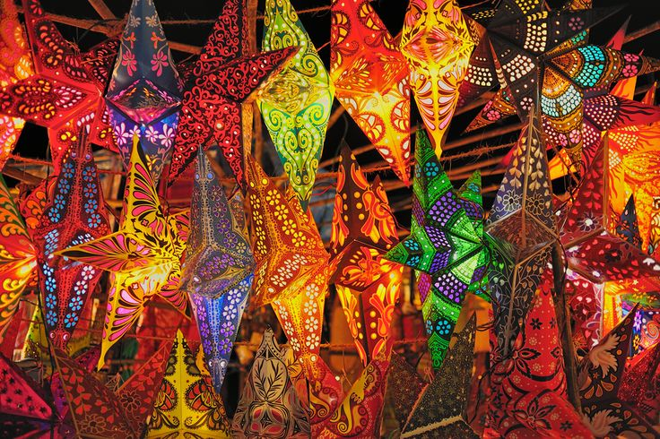 Paper star lanterns from India