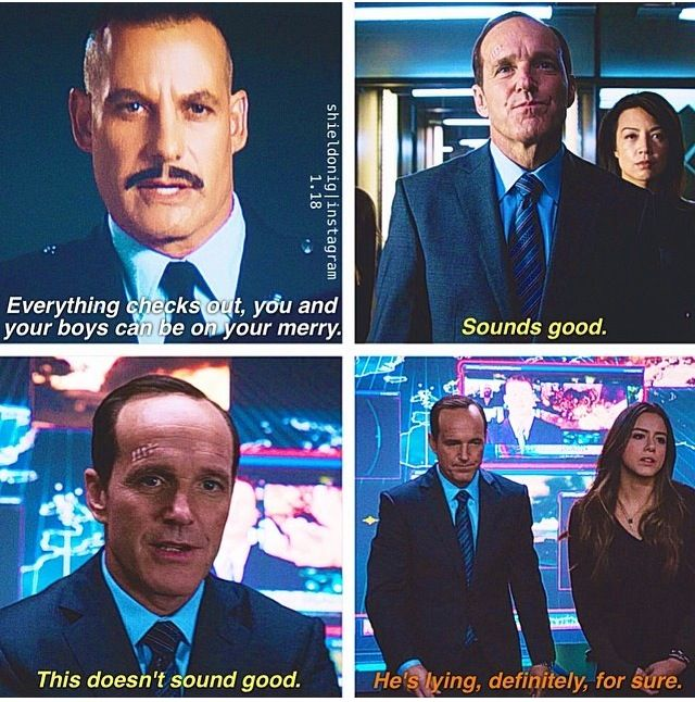 Agents of SHIELD | Coulson and Skye Hahahhahah I love how they understand each other
