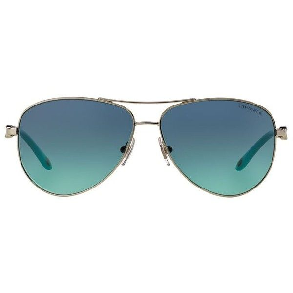 Tiffany Pilot Sunglasses (£268) ❤ liked on Polyvore featuring accessories, eyewear, sunglasses, glasses, sunnies, jewelry, embellished sunglasses, tiffany co sunglasses and tiffany co glasses