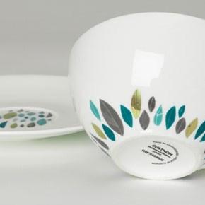 Leaf pattern ceramics by Custhom
