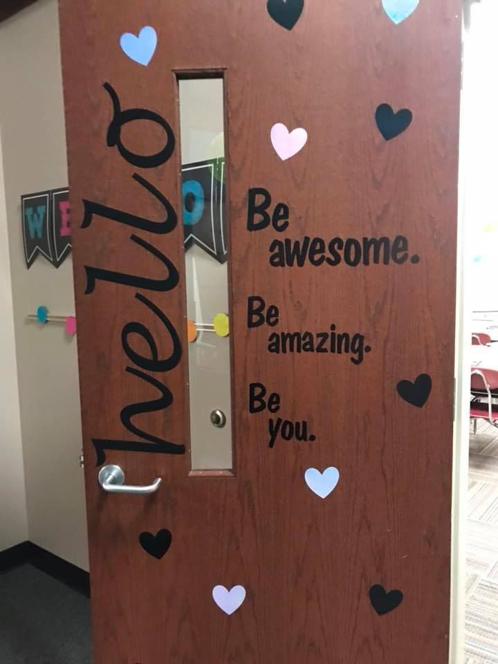 Be awesome classroom door decoration quote