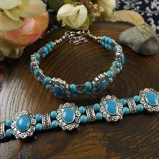 HOT Free shipping New Tibet silver multicolor jade turquoise bead bracelet S90