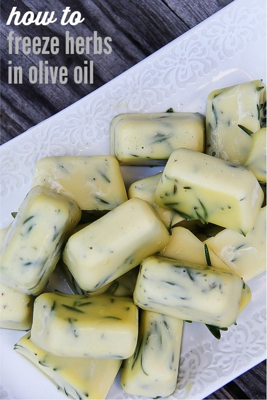 How to Freeze Herbs in Olive Oil by freezing them in olive oil, you can throw them straight into the pan for cooking meats, vegetables, or making a stir-fry.
