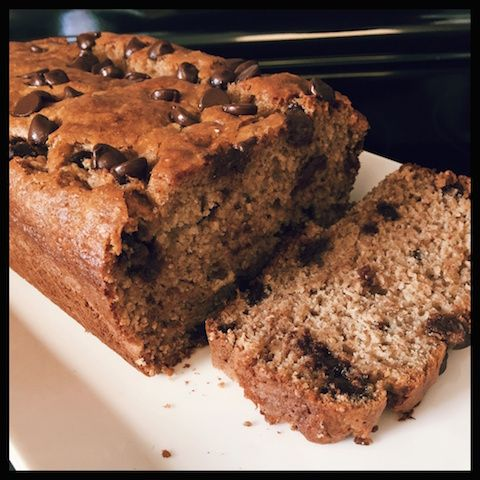 Chocolate Chip Banana Loaf  Great treat - so moist and delicious! Please check out my website for the recipe! #chocolate #banana #healthy #chocolatechip #wholewheat #yummy #sharicreates