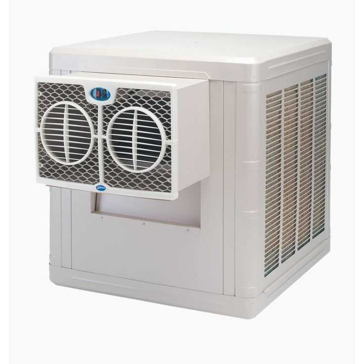 3500 CFM 2-Speed Front Discharge Window Evaporative Cooler for 800 sq. ft. (with Motor), Beige