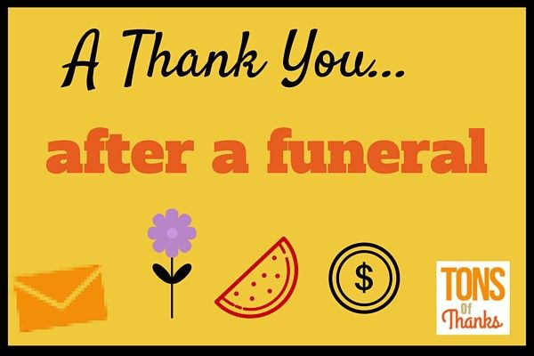 Examples of thank you notes after funeral