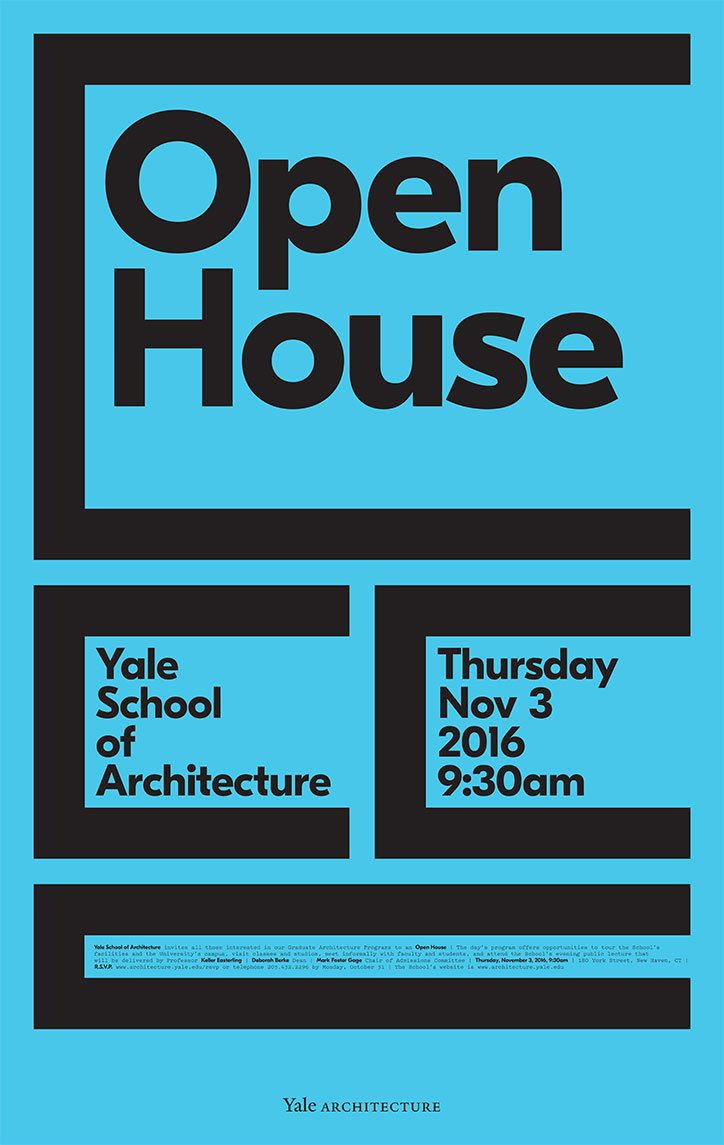 Michael Bierut rethinks the Yale School of Architecture poster series after 18 years.