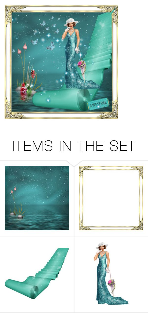 """""""Roll out the teal carpet!"""" by callmerose ❤ liked on Polyvore featuring art"""