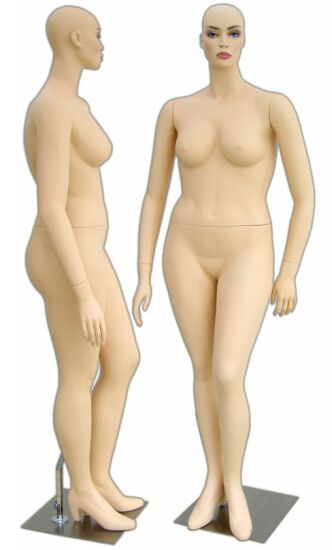 US size 8-10 fashion mannequins (UK size 12-14) are beginning to replace some of the very thin store mannequins