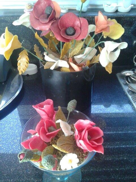 Soap flowers...