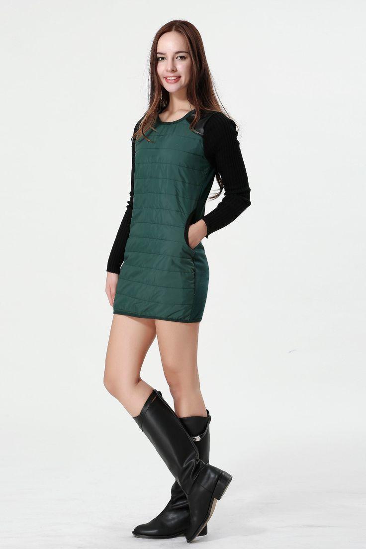 Новинка женщин свободного покроя платье с длинным рукавом толстые осень зима теплая мини одежда пуховик искусственная кожа сумки на ремне , бесплатная доставка, принадлежащий категории Платья и относящийся к Одежда и аксессуары для женщин на сайте AliExpress.com | Alibaba Group