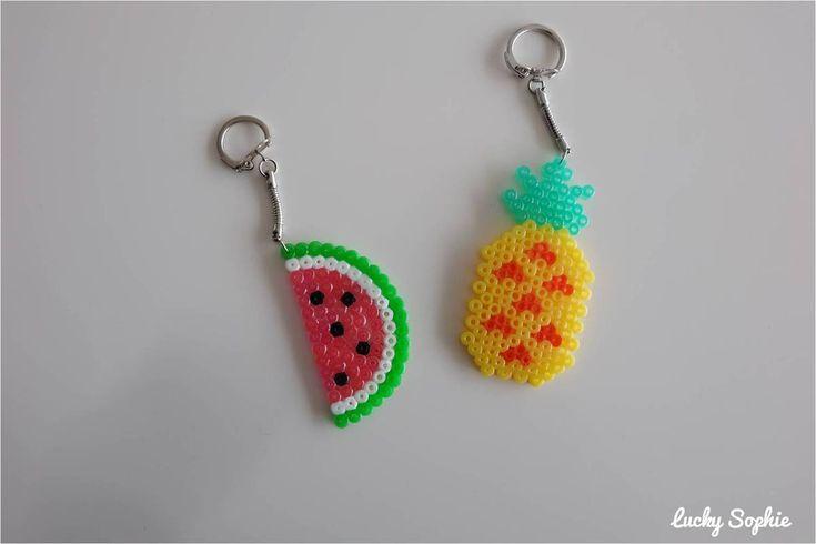 Porte-clés en perles à repasser