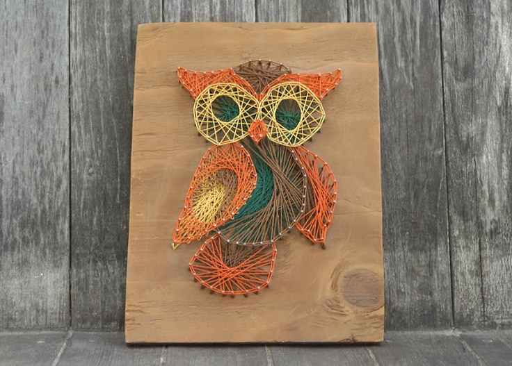 Vintage String Art Owl @Ashley Walters-Debi Collins, make this for me!!
