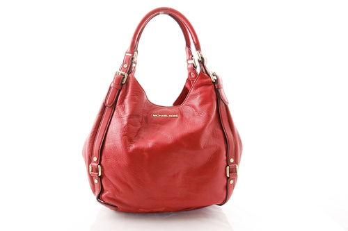 Michael Kors Bedford Large Red Leather Satchel - Women's Handbag - Msrp 8Red Fashion, Bedford Satchel, Michael Kors, Large Red, Large Bedford, Red Bags, Red Handbags, Kors Bedford, Bedford Large