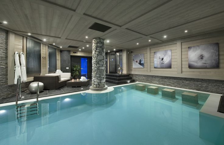 Chalet Black Pearl - Val d'Isere Chic indoor pool #luxurychalet #indoorpool #chic