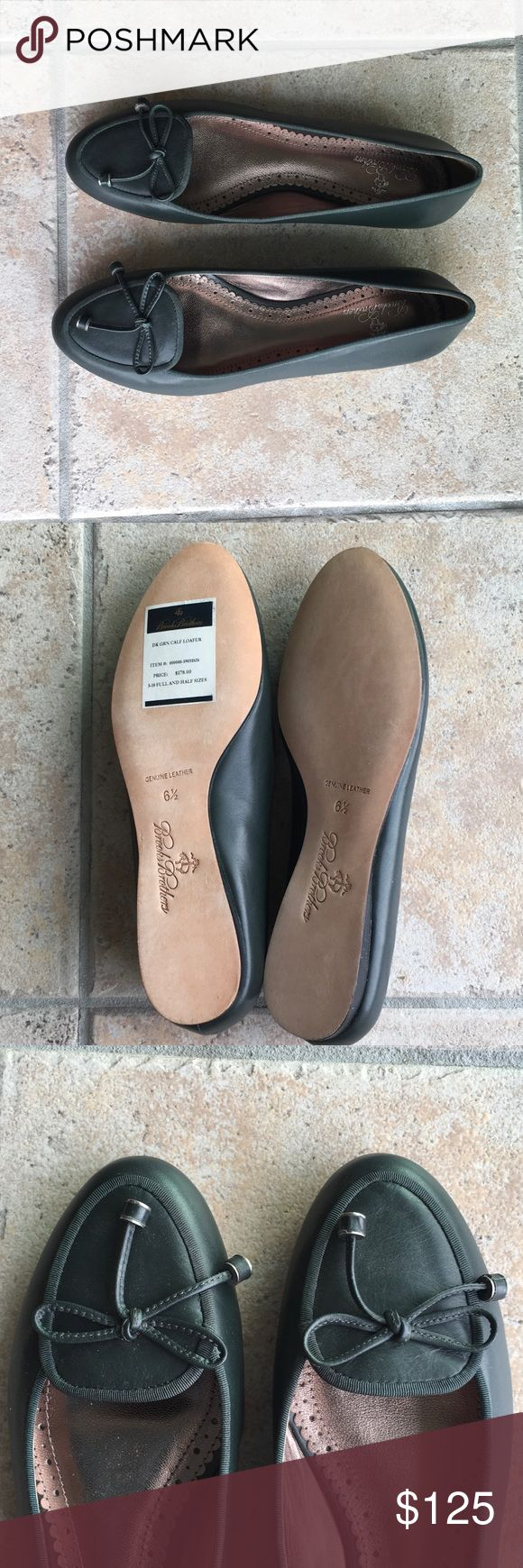 Brooks Brothers Calf leather loafers NWT, never worn Brooks Brothers flats, timeless & classic, in louden green Brooks Brothers Shoes Flats & Loafers