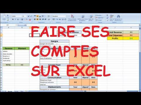 Comment gérer ses finances et son argent avec le logiciel Microsoft Excel? - YouTube