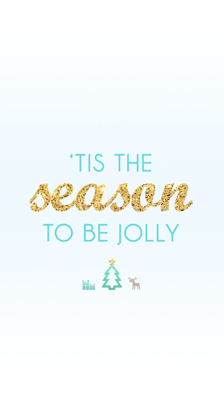 'Tis the season to be jolly   free winter holiday iPhone wallpapers