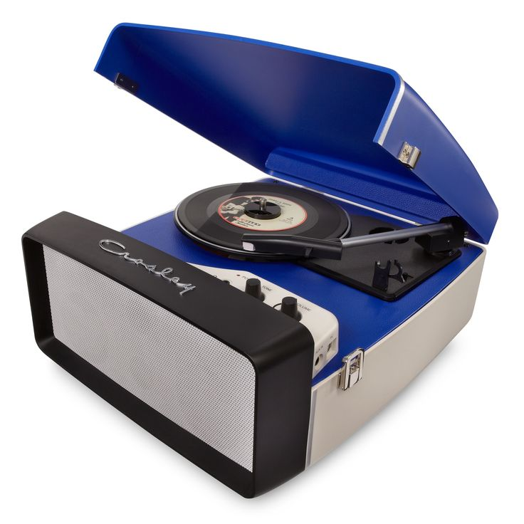 Crosley Radio Collegiate Portable USB Turntable, #CR6010A-BL