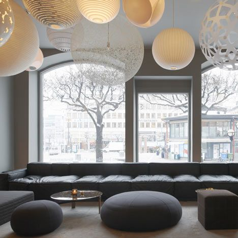 Here are some photos of the recently-completed Nobis Hotel by Swedish architects and designers Claesson Koivisto Rune, where the Dezeen team stayed during Stockholm Furniture Fair.