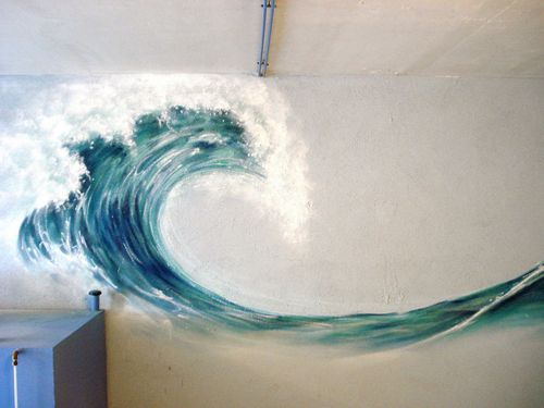 wave on a wall
