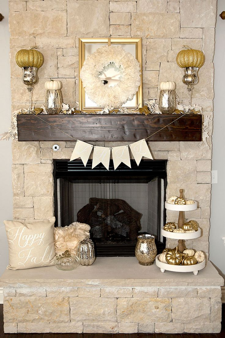 17 best ideas about fall mantel decorations on pinterest. Black Bedroom Furniture Sets. Home Design Ideas
