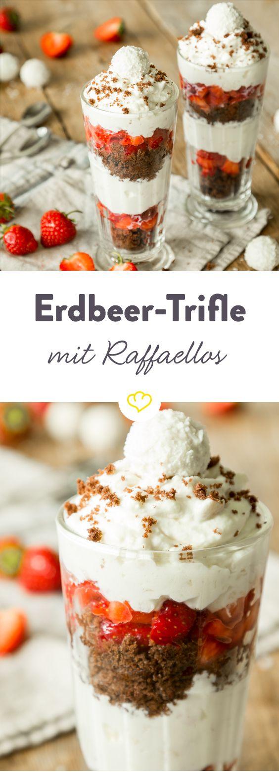 Sommergenuss pur: Erdbeer-Raffaello-Trifle