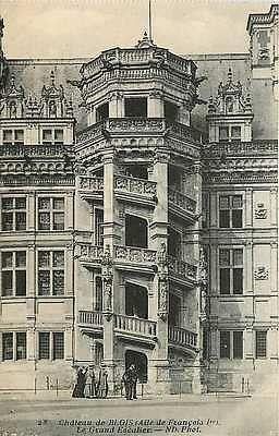 Blois France 1907 The Grand Staircase Chateau de Blois Antique Vintage Postcard