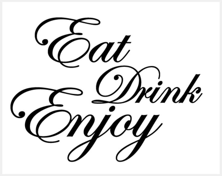 Eat Drink Enjoy Dining Room QuotesKitchen