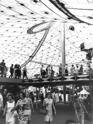 Interior. German Pavilion, International and Universal Exposition, Montreal, 1967 | Frei Otto and Rolf Gutbrod