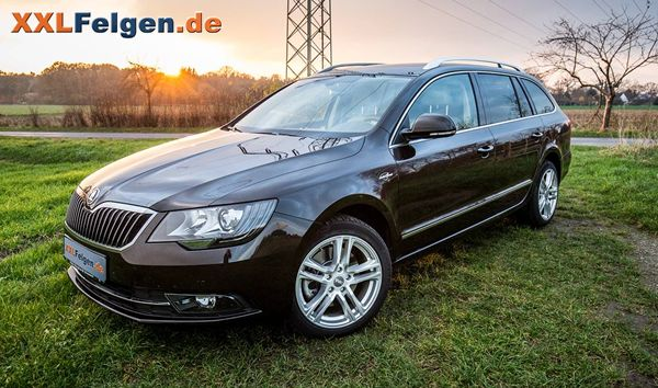 skoda superb mit dbv mauritius silber metallic 17 zoll. Black Bedroom Furniture Sets. Home Design Ideas