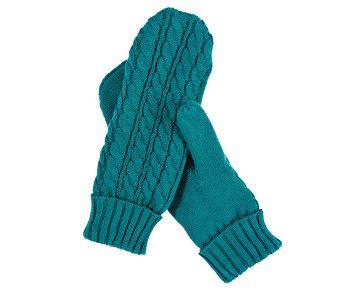 Mitaines de tricot torsadé - Notre sélection d'accessoires-mode pour l'automne
