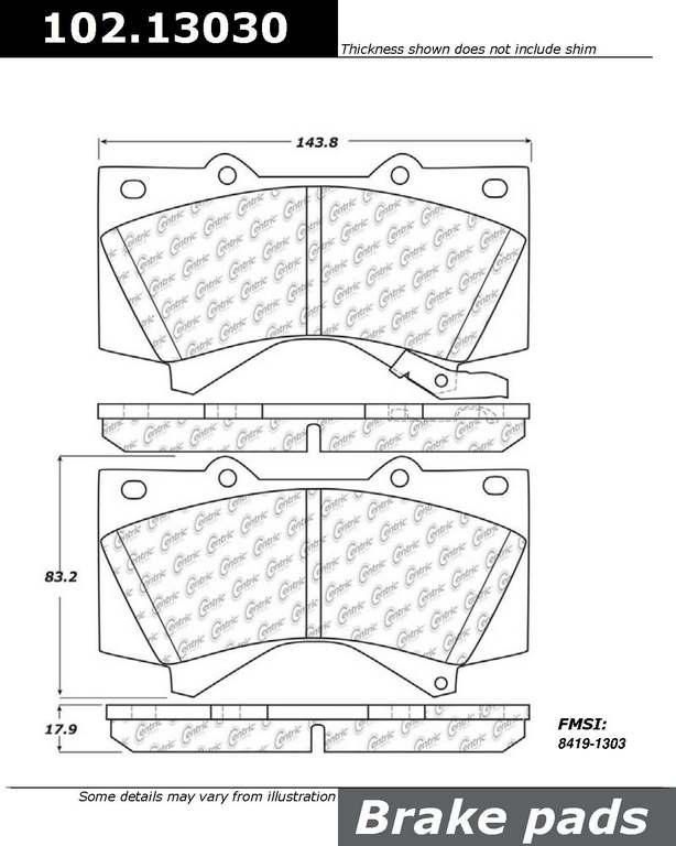 Buy Toyota Land Cruiser Disc Brake Pad Centric 102.13030 - TheAutoPartsShop for as low as $19.28 at TheAutoPartsShop.  Brand : Centric,   Part Number : 102.13030,  Price : $19.28,  2 Years Warranty, . Get Best Discount Deals for Your Auto Parts, More than 3 Million Parts in The Auto Parts Shop Website. Fitement Year:2011, 2010, 2009, 2008