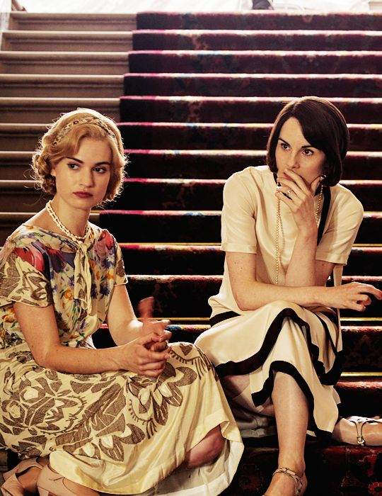 #DowntonAbbey Lady Rose and Lady Mary http://oztvreviews.com/2011/12/upstairs-downstairs-2010/