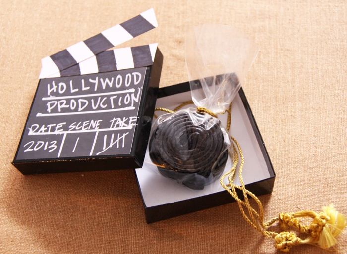 """Licorice """"Film Reel"""" Candy, Film Party Clapperboard Gifts"""