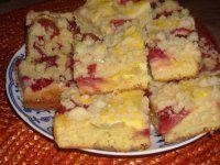 Kynutý litý koláč s tvarohem, rebarborou a jahodama stojí za to vyzkoušet!!!!!! Rychlovka!!!
