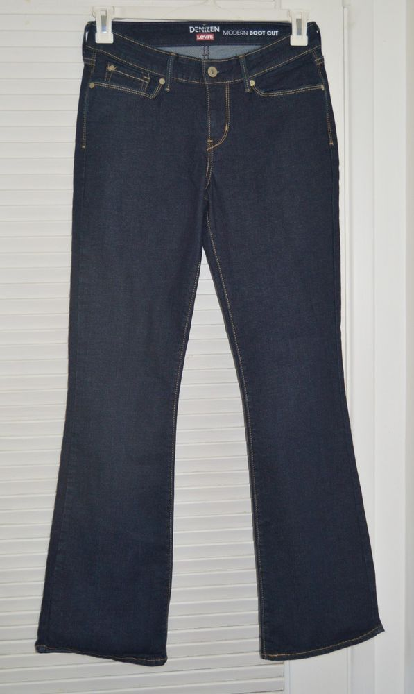 57a84570b33da7 NEW DENIZEN from LEVIS Womens Stretch Modern bootcut Jeans 6M - W28 L32  SHIP 0 #DenizenfromLevis #BootCut