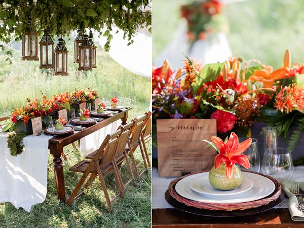 orange wedding ideas - photo by Brooke Michaelson