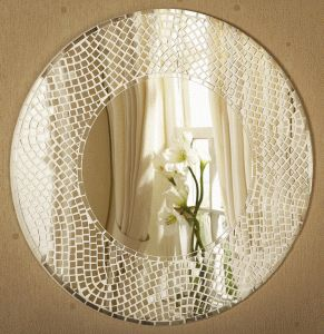 Thinking of making a mirrored mosaic edge for my existing mirror...